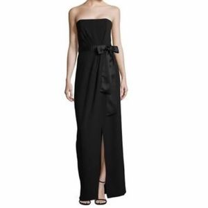 NEW Halston Strapless Black Dress